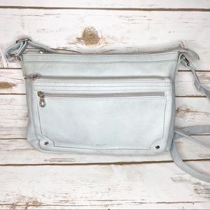 Relic Silver Blue Medium Crossbody Purse Bag